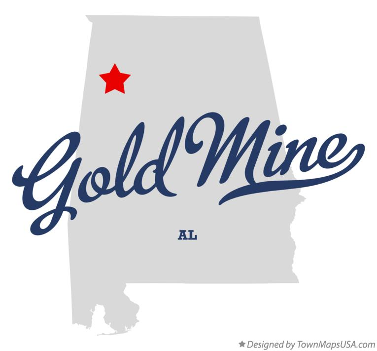 Map of Gold Mine Alabama AL