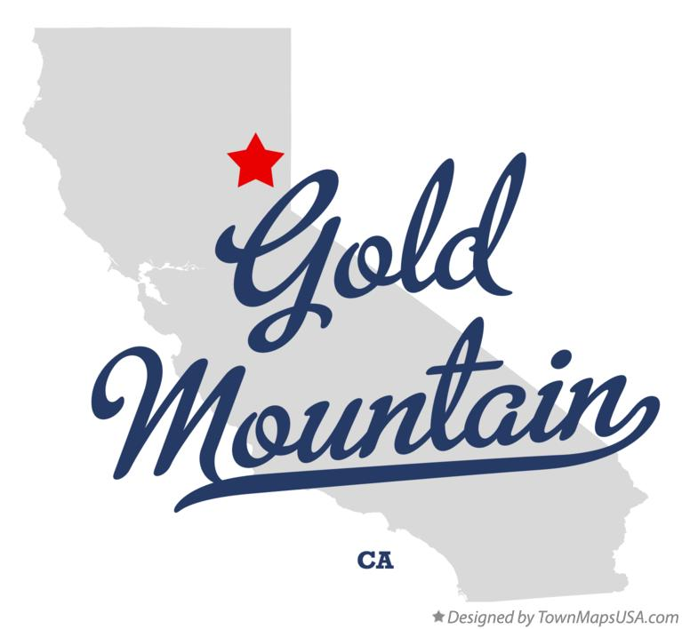 Map of Gold Mountain California CA