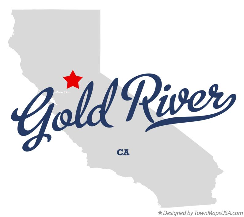 Map of Gold River California CA