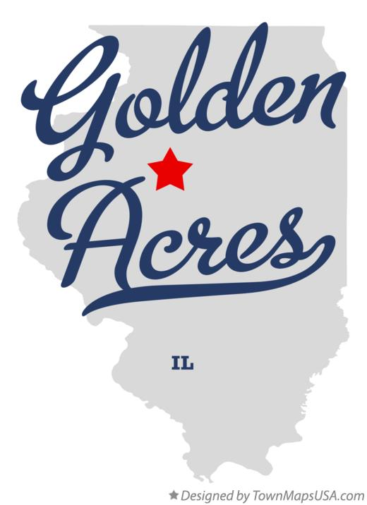 Map of Golden Acres Illinois IL