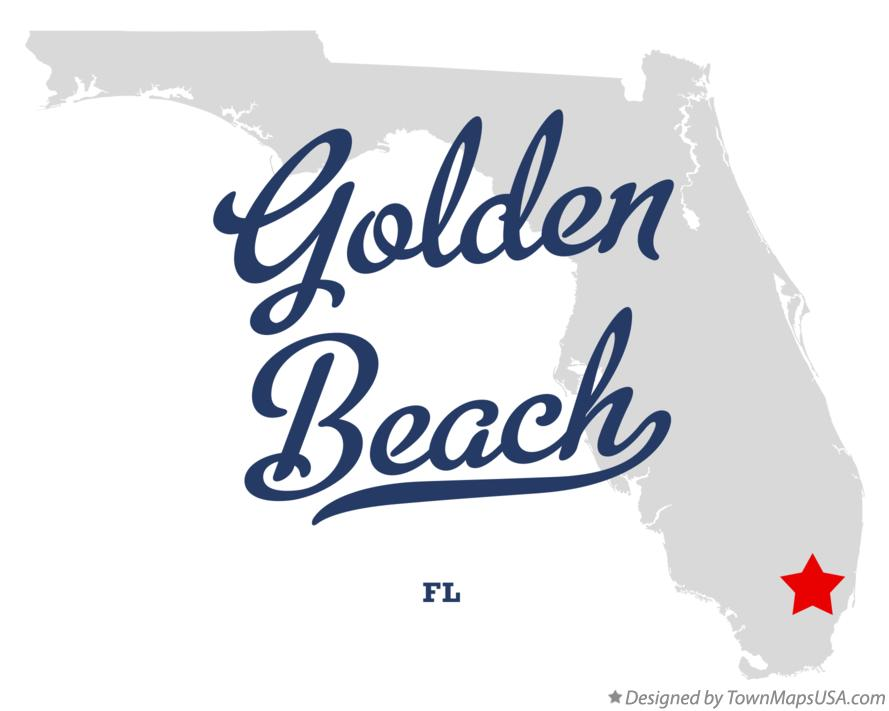 Map of Golden Beach Florida FL