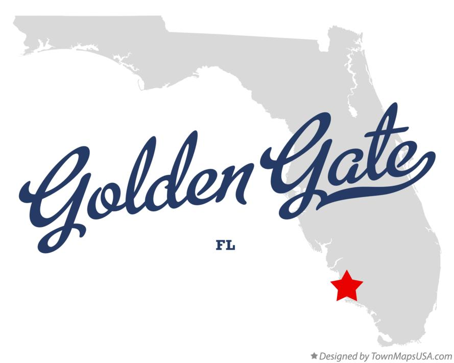 Map of Golden Gate Florida FL