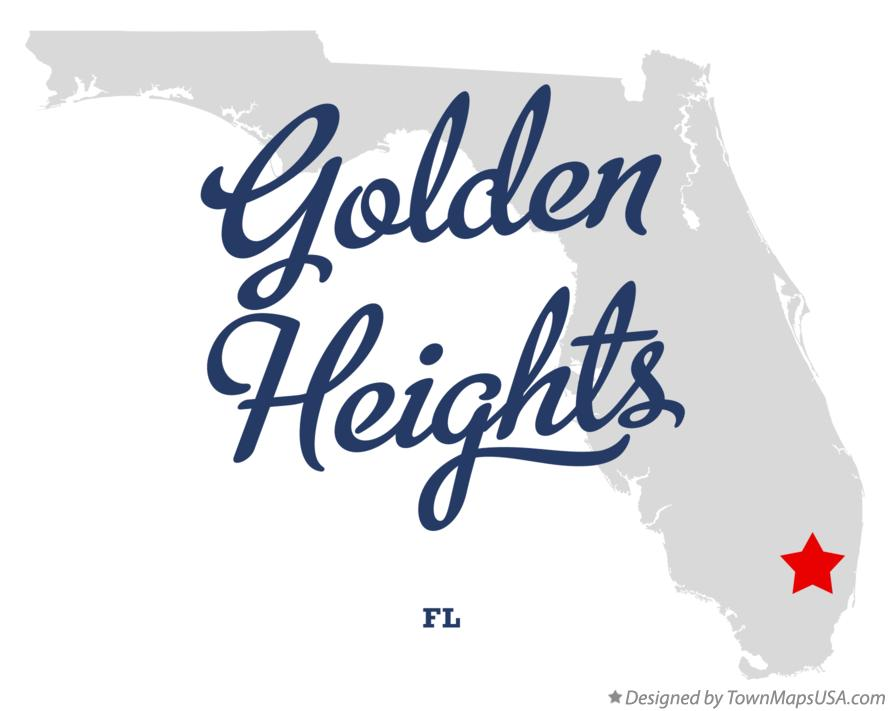 Map of Golden Heights Florida FL