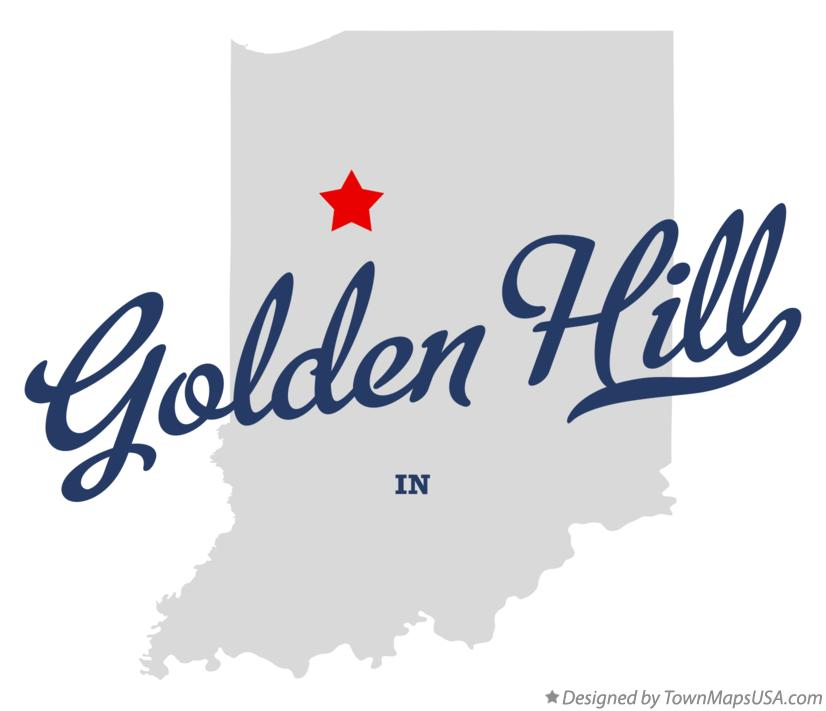 Map of Golden Hill Indiana IN