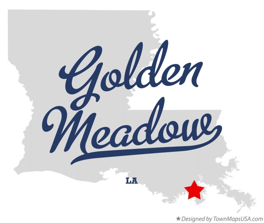 Map of Golden Meadow Louisiana LA
