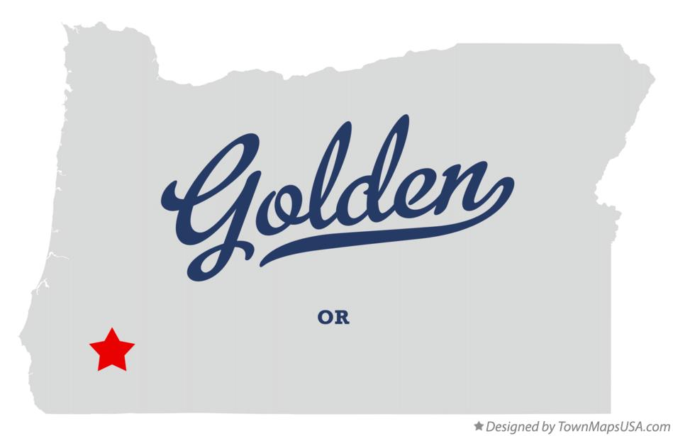 Map of Golden Oregon OR