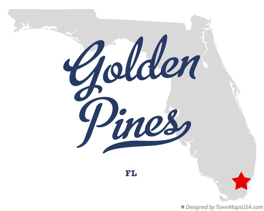 Map of Golden Pines Florida FL