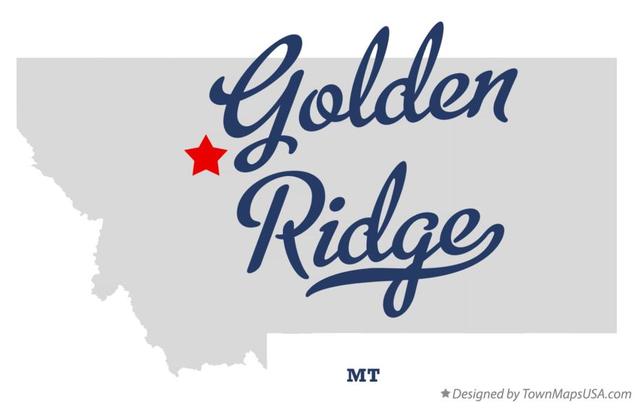 Map of Golden Ridge Montana MT