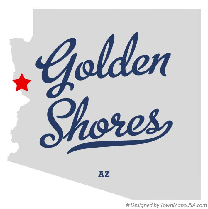 Map of Golden Shores Arizona AZ