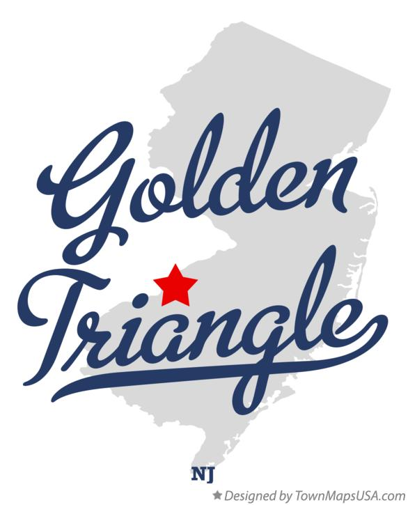 Map of Golden Triangle New Jersey NJ