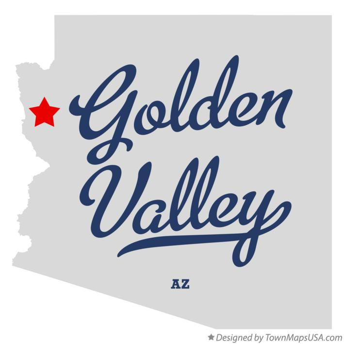 Map of Golden Valley Arizona AZ