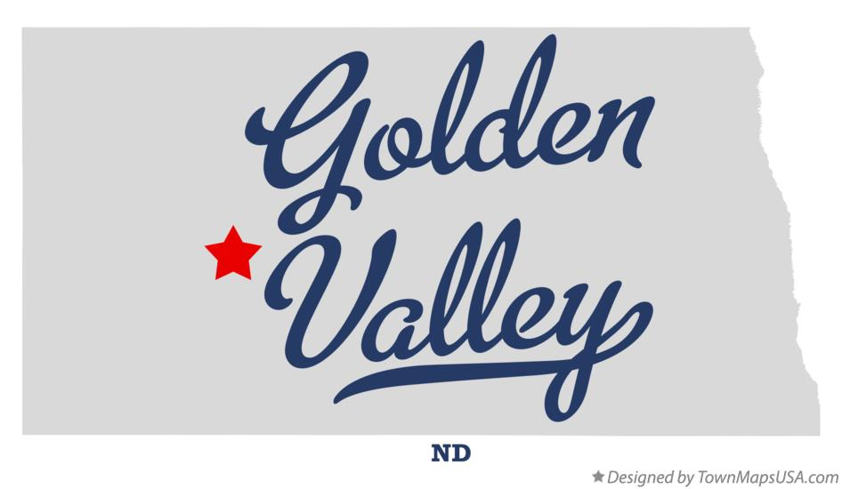 Map of Golden Valley North Dakota ND