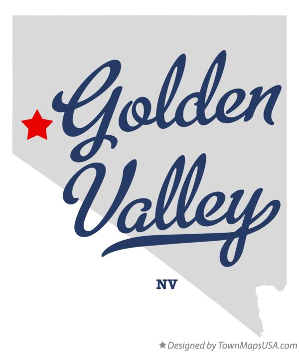 Map of Golden Valley Nevada NV