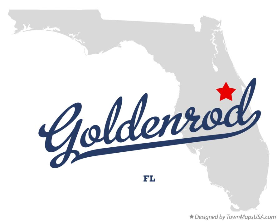 Map of Goldenrod Florida FL