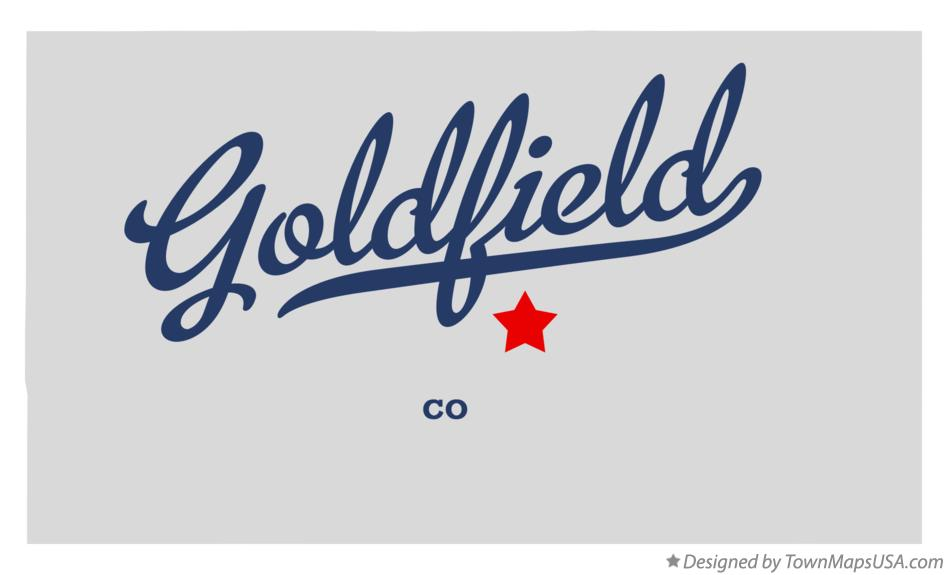 Map of Goldfield Colorado CO