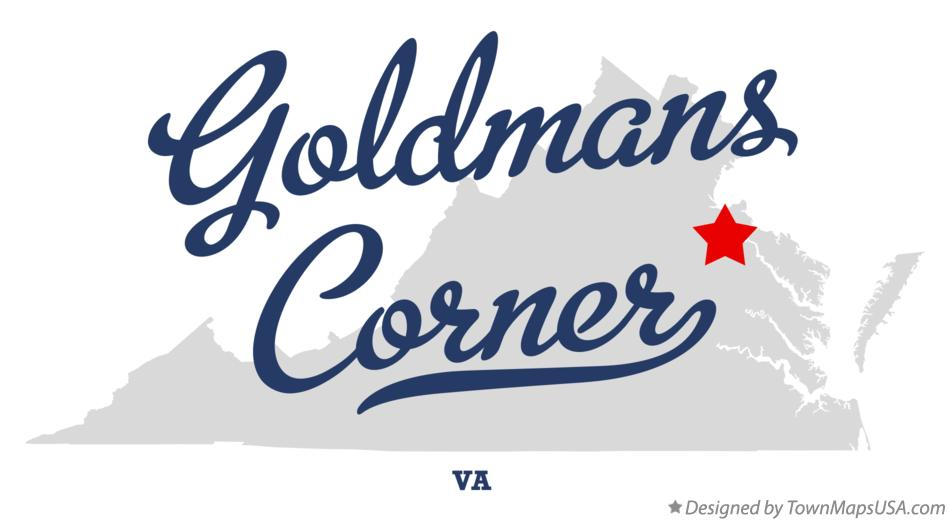 Map of Goldmans Corner Virginia VA