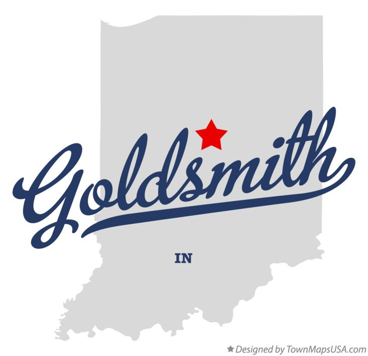 Map of Goldsmith Indiana IN
