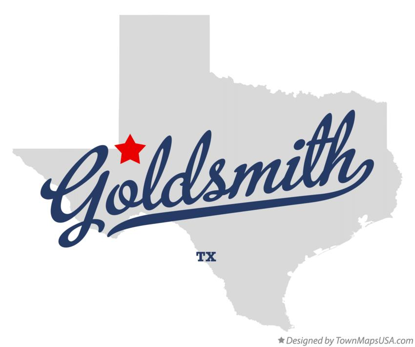 Map of Goldsmith Texas TX