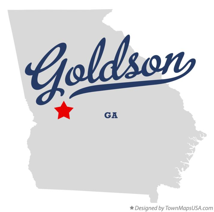 Map of Goldson Georgia GA