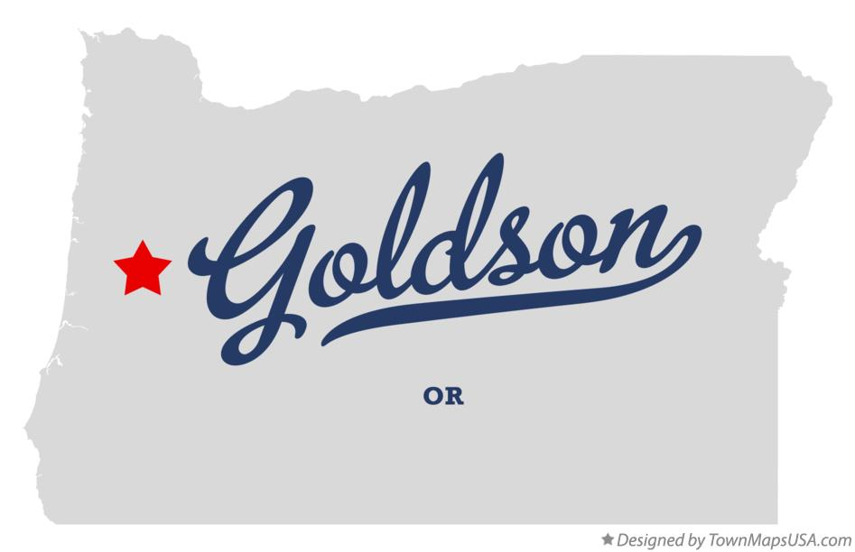 Map of Goldson Oregon OR