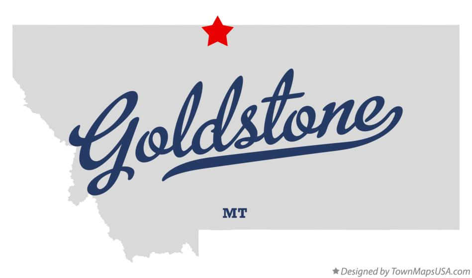 Map of Goldstone Montana MT