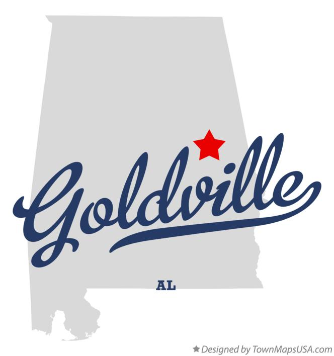 Map of Goldville Alabama AL