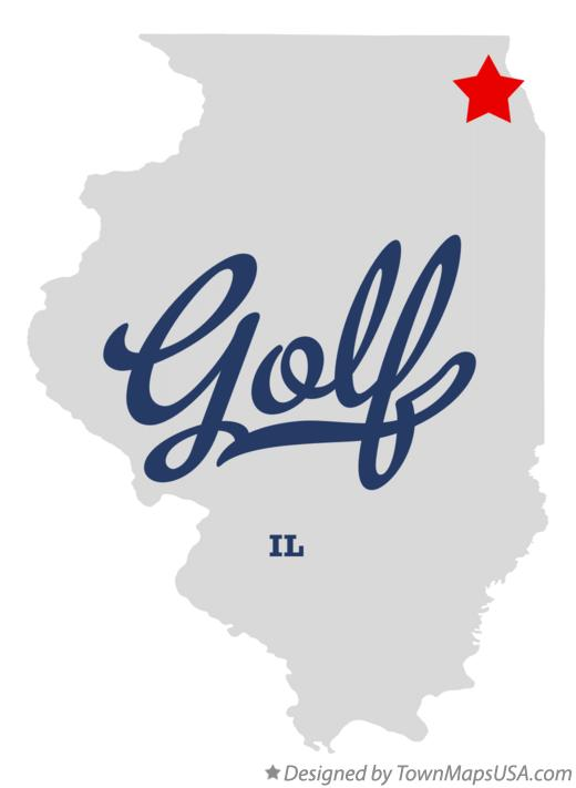 Map of Golf Illinois IL