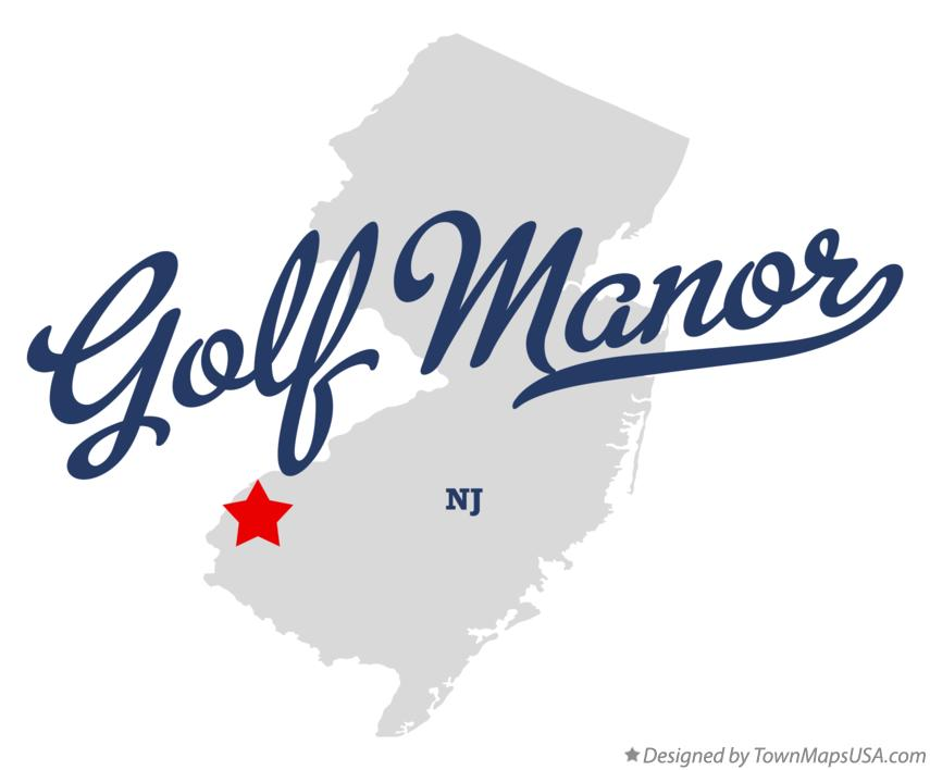 Map of Golf Manor New Jersey NJ