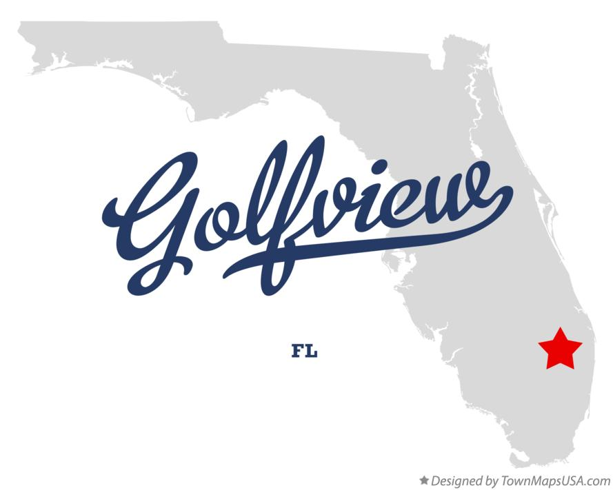 Map of Golfview Florida FL