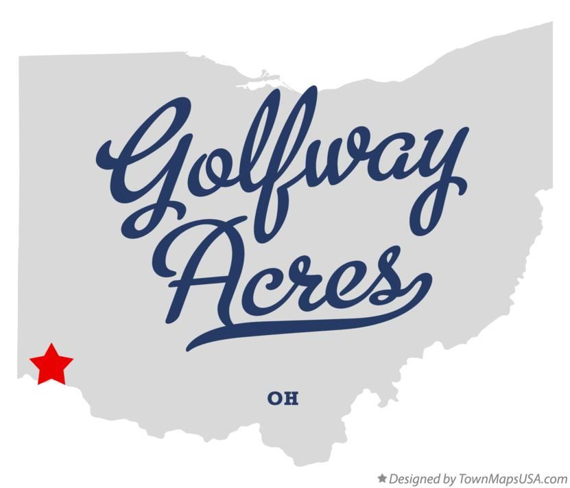 Map of Golfway Acres Ohio OH