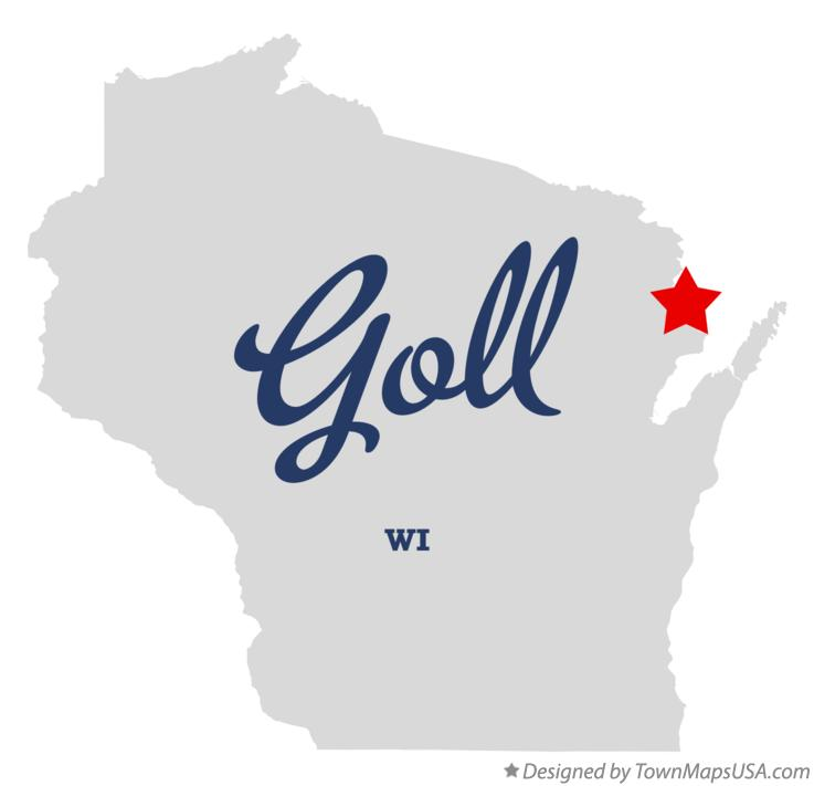 Map of Goll Wisconsin WI
