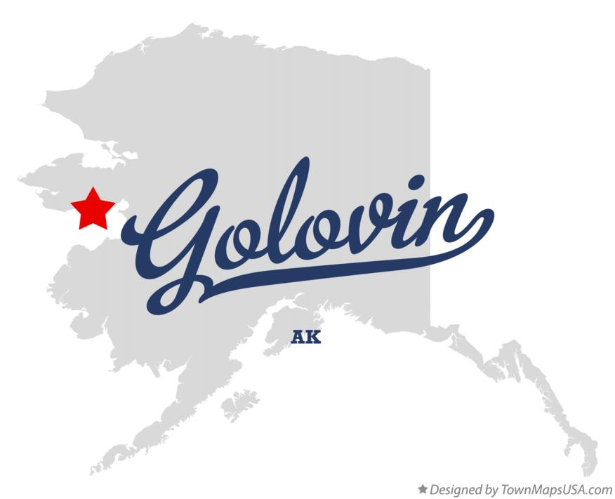 Map of Golovin Alaska AK