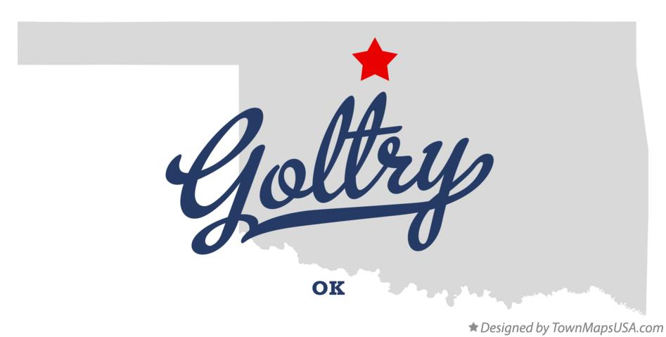Map of Goltry Oklahoma OK