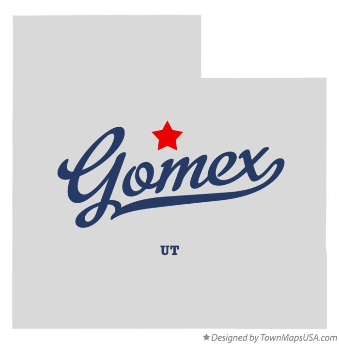Map of Gomex Utah UT