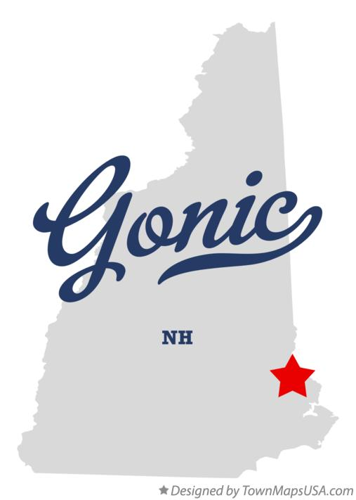 Map of Gonic New Hampshire NH