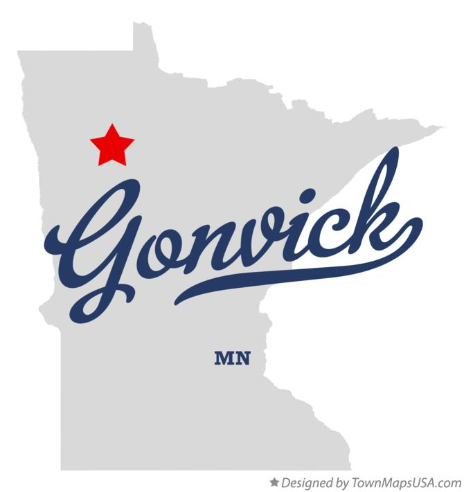 Map of Gonvick Minnesota MN