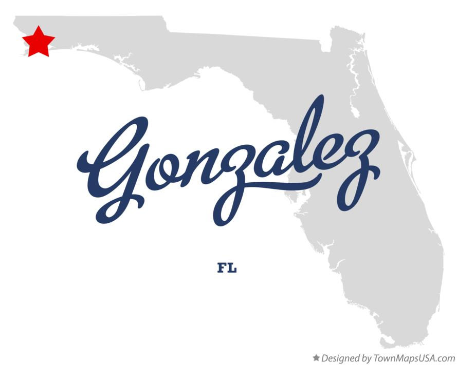 Map of Gonzalez Florida FL