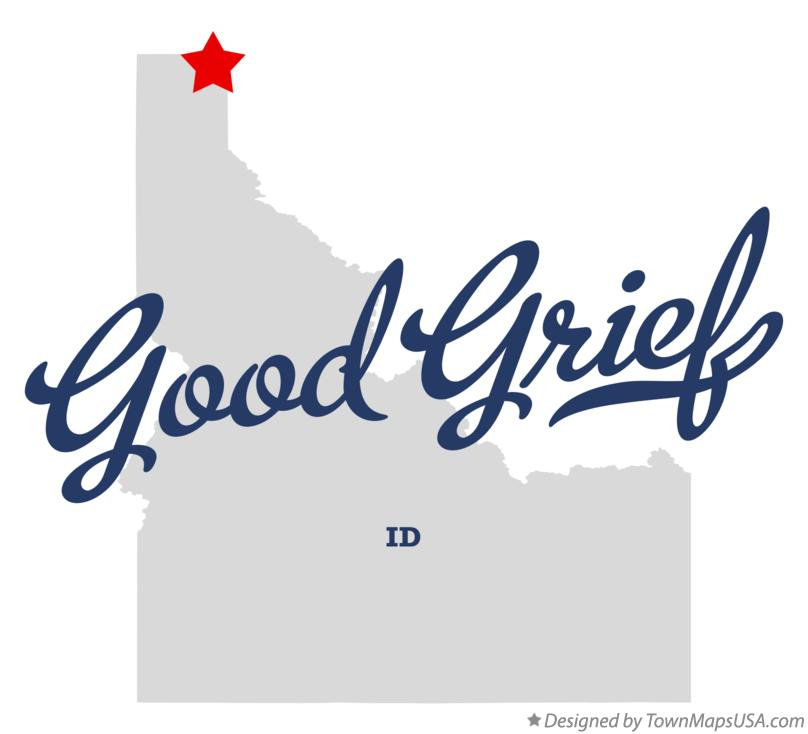 Map of Good Grief Idaho ID
