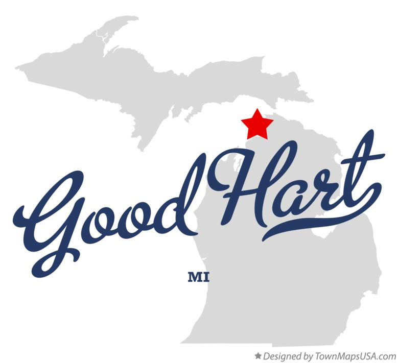 Map of Good Hart Michigan MI