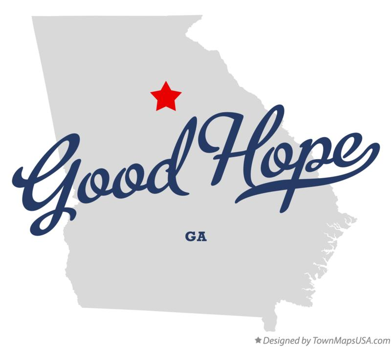 Map of Good Hope Georgia GA