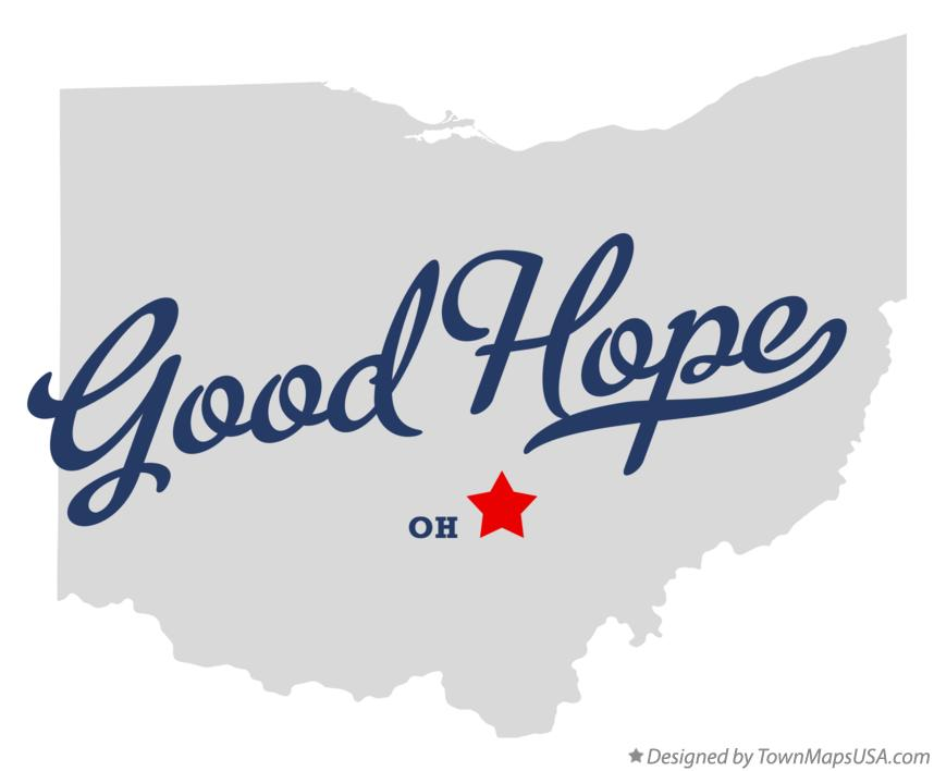 Map of Good Hope Ohio OH