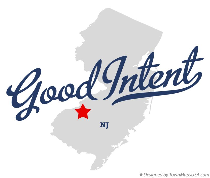Map of Good Intent New Jersey NJ
