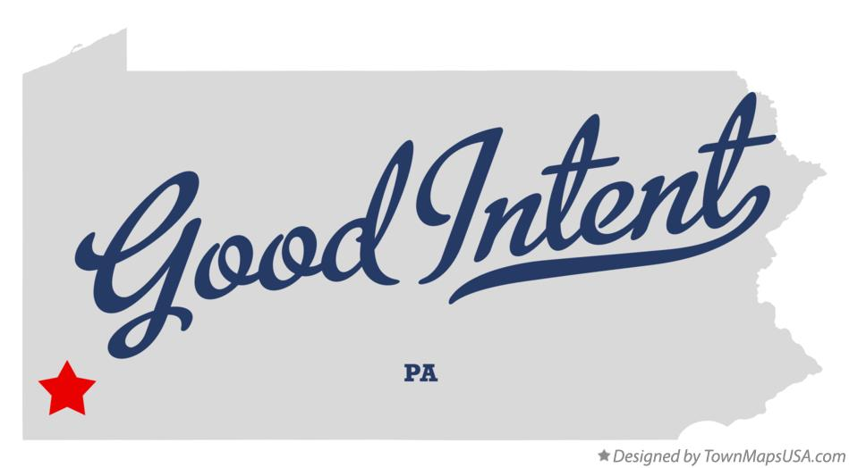 Map of Good Intent Pennsylvania PA
