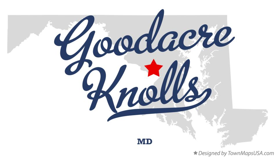 Map of Goodacre Knolls Maryland MD
