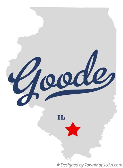 Map of Goode Illinois IL