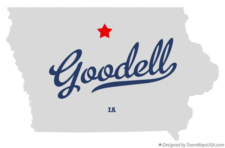 Map of Goodell Iowa IA
