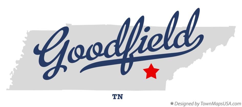 Map of Goodfield Tennessee TN
