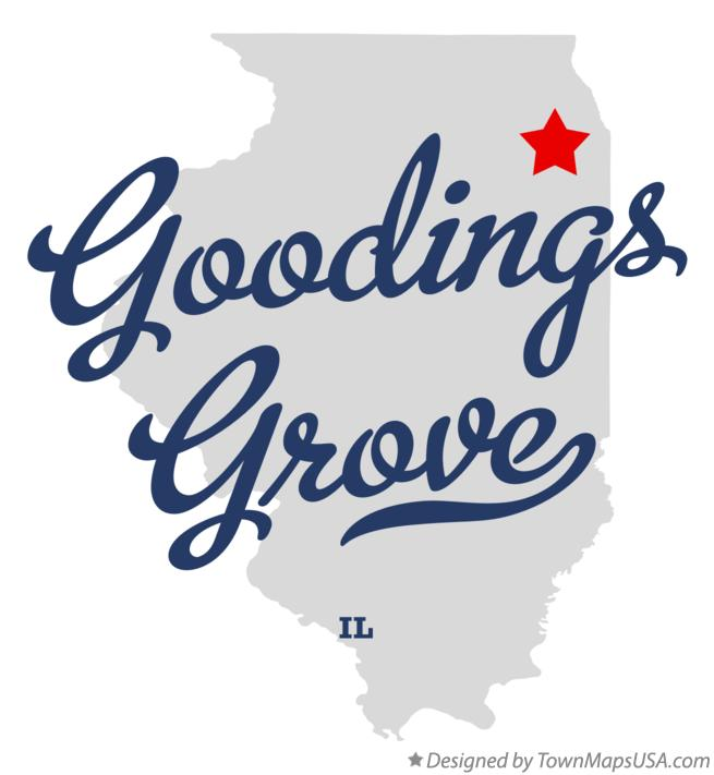 Map of Goodings Grove Illinois IL