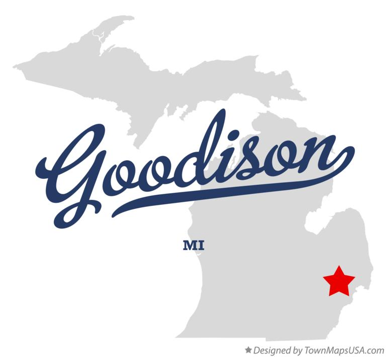 Map of Goodison Michigan MI