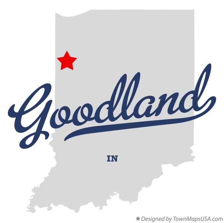 Map of Goodland Indiana IN
